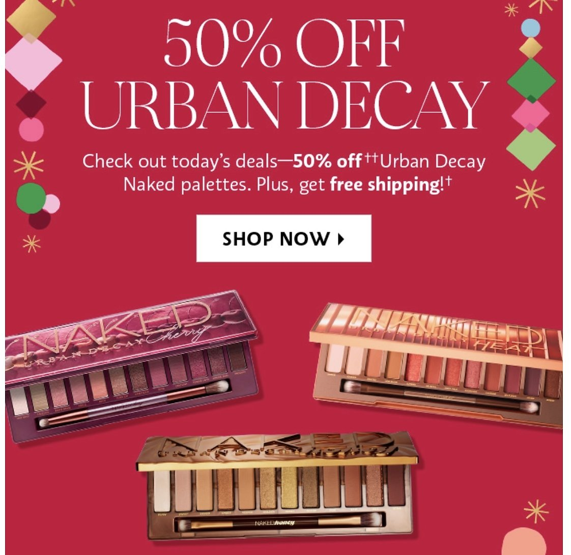 50% Urban Decay Naked Eyeshadow Palette