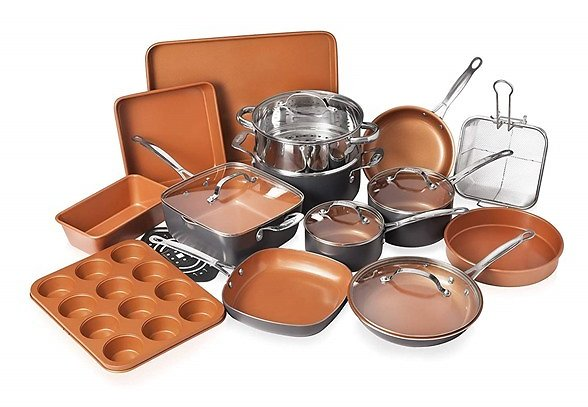 $99.99 Gotham Steel 20-Piece All-in-One Kitchen Cookware and Bakeware Set