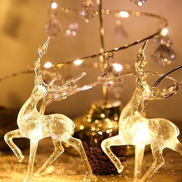 2020 Christmas Elk String Light LED Christmas Decor for Home Hanging Garland Christmas Tree Decor Ornament for Navidad Xmas Gift New YearFestival Gifts & Party SuppliesfromHome and Gardenon Banggood.com