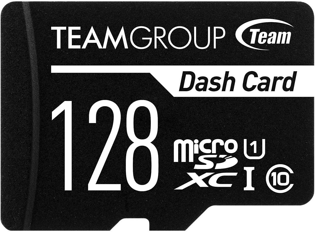 Team 128GB Dash Card MicroSDXC UHS-I/U1 Class 10 Memory Card with Adapter (TDUSDX128GUHS03)
