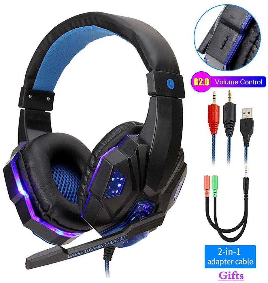 US $13.59 20% OFF Professional Led Light Gamer Headset for Computer PS4 PS5 Fifa 21 Gaming Headphones Bass Stereo PC Wired Headset With Mic Gifts Phone Earphones & Headphones  - AliExpress