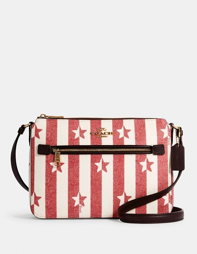 Gallery File Bag with Stripe Star Print