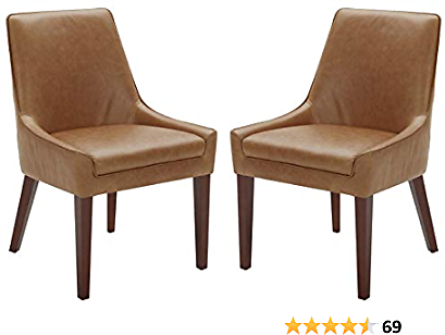 Amazon Brand – Rivet Contemporary Welt-Trimmed Dining Chair, 35