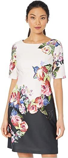 Adrianna Papell Rose Printed A-Line Dress | 6pm