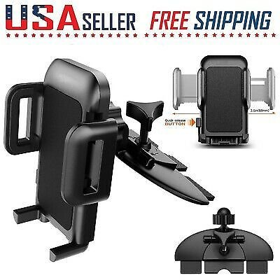 Cell Phone Car CD Slot Mount Holder Stand Adjustable 360 Rotation Universal