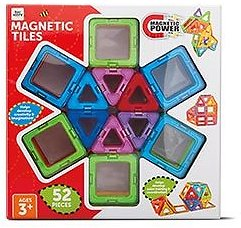 52-Piece Bee Happy Magnetic Tiles (12/02)