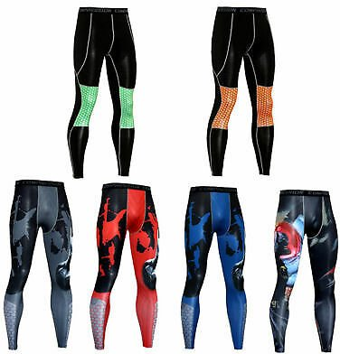 Men's Athletic Compression Base Layer Long Pants Gym Running Tight Leggings NEW