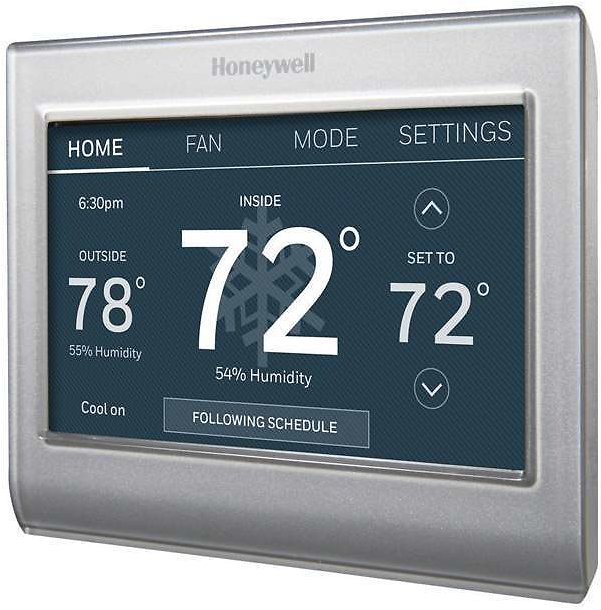 57% OFF | Honeywell Smart Color Built In WiFi Heating and Cooling Touch Screen Programmable Thermostat