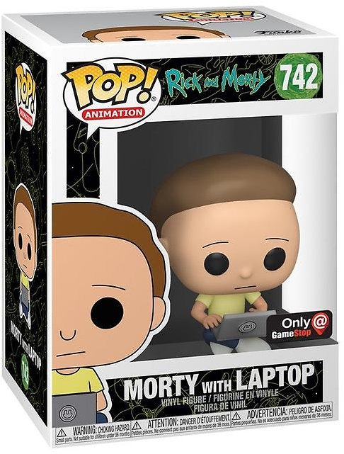 POP Animation Rick and Morty Morty with Laptop