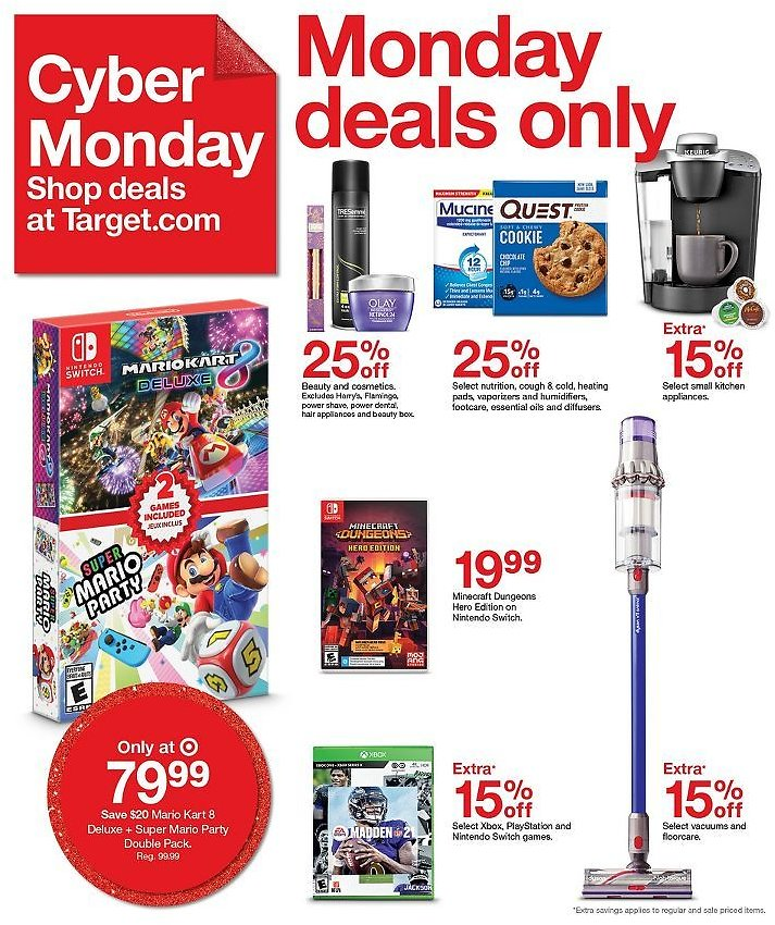 1-Day Only Deals W/ Extra 15% Off Video Games,  Floorcare & More