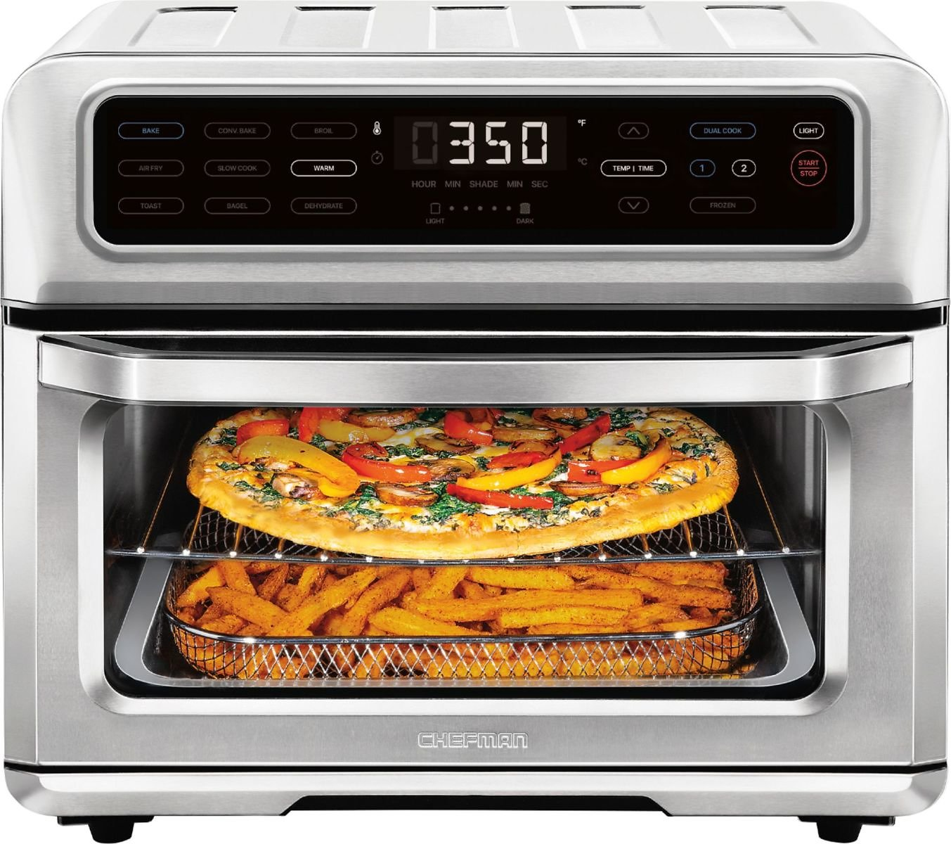 ChefmanDual-Function Air Fryer + Toaster Oven Combo 20L