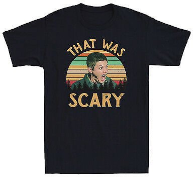 Dean Winchester Supernatural That Was Scary Funny Vintage Men's T Shirt Cotton