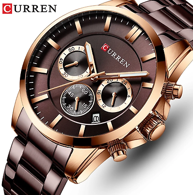 Men Watch CURREN Top Brand Luxury Fashion Quartz Men's Watches Waterproof Chrono