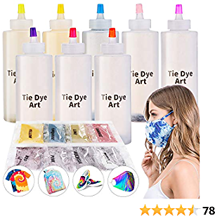 Tie Dye Kit, 8 Neon Colors Kids Tie Dye Set, Permanent One-Step Tie Dye Kits for Kids, Adults, Fashion DIY, Give Away 8 Dye Packets, Happy Time Is Uninterrupted