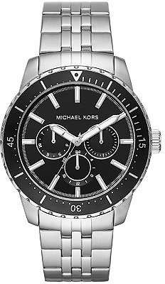 Michael Kors Men's Cunningham Multifunction Stainless Steel Bracelet Watch 44mm & Reviews - Watches - Jewelry & Watches