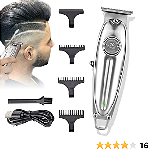 Professional Hair Clipper for Men, Professional Outliner Trimmer, Rechargeable Quiet with All Metal Housing