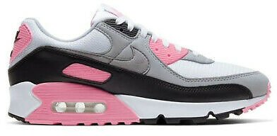 New Nike Air Max 90 in White Particle-Grey-Rose-Black Colour Size 11