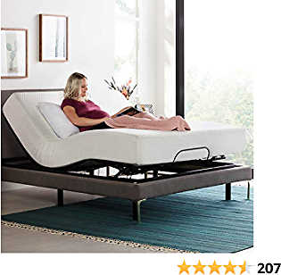 LINENSPA Motorized Head and Foot Incline-Quick and Easy Assembly- Queen Adjustable Bed Base, Black