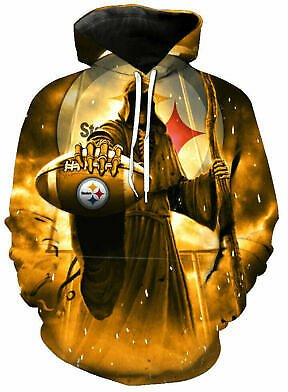 Pittsburgh Steelers Hoodie Men's Football Sweatshirt Fans Casual Pullover Jacket
