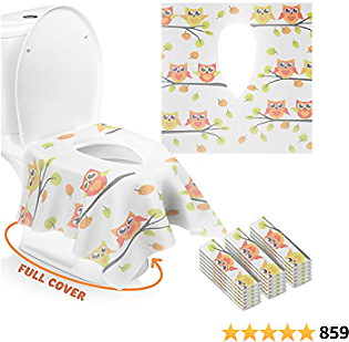 Up to 30% Off 18 Packs Disposable Travel Toilet Seat Covers, 24 *25in