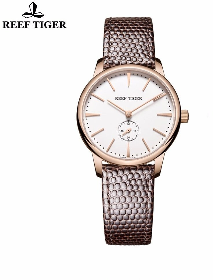 US $59.0 50% OFF|Reef Tiger/RT Rose Gold Ultra Thin Quartz Watches For Men Rose Gold Watches with Stingray Leather Strap Watch RGA820|watch For|watches for Menwatch with - AliExpress