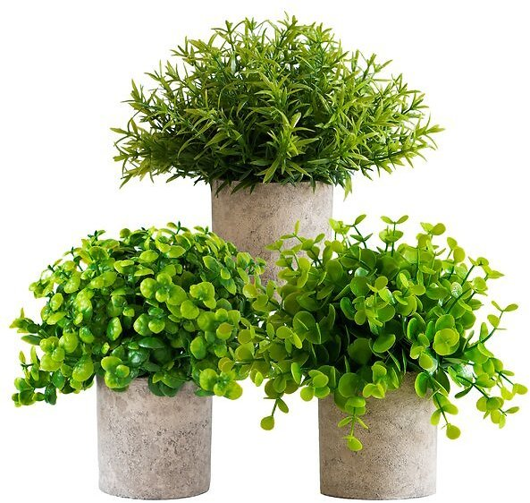 SALE 12% OFF ON 3 - Piece Artificial Plant in Pot Set
