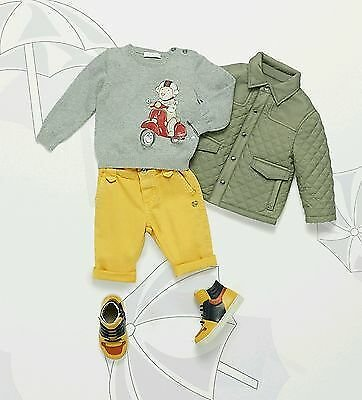 NWT NEW Gucci Baby Boys Khaki Green Quilted Padded Jacket 3/6 6/9 9/12m