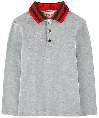 NWT NEW Gucci Baby Toddler Boys Gray Blue Polo Red Green Web 18/24 24m 430964