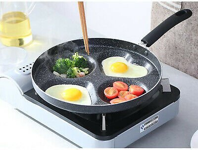 4 Holes Non-Stick Frying Pan Egg Tools Cookware For Breakfast 28cm