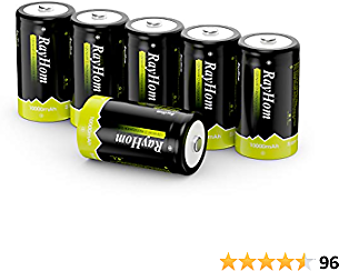 51% OFF RayHom 10,000mAh Rechargeable D Batteries 6Packs $15.66