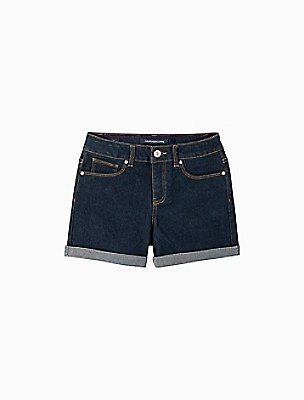 Big Girls Cuffed Denim Shorts | Calvin Klein