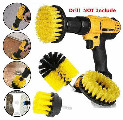 3PCS Drill Brush Power Scrubber Drill Attachments For Grout Cleaning