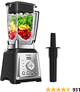 Homgeek 1450 Watt Countertop Blender with 70 Oz Tritan Pitcher, Professional High Speed Blender with 8-Speeds Control and 4 Blending Presets for Frozen Fruit, Ice Crushing, Smoothie, Milkshake