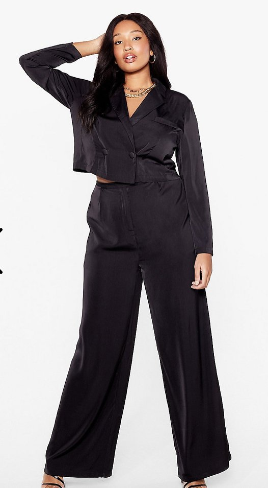 Suits You Plus Cropped Blazer   Nasty Gal