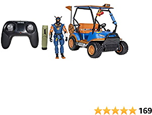 """Fortnite Stinger Wrap ATK Deluxe Feature Vehicle - 10"""" All Terrain Vehicle with Remote Control, Includes 4"""" Copper Wasp Articulated Figure and 1 Power Punch Harvesting Tool"""