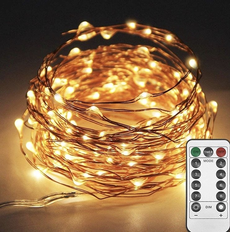 33ft 100LED Copper Wire String Lights Fairy String Lights with Remote Control.