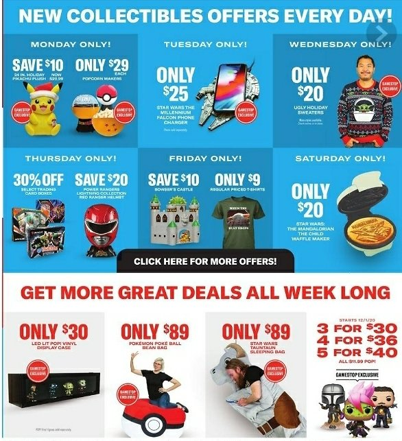 Cyber Monday Daily Collectables Offers Every Day