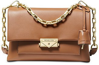 Michael Kors Cece Polished Leather Chain Small Shoulder Bag