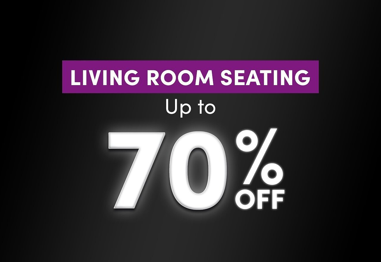 Up to 70% Living Room Seating