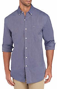 Crown & Ivy™ Motion Flex Long Sleeve End-On-End Woven Shirt