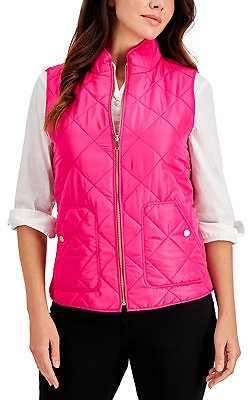 Charter Club Quilted Vest, in Regular & Petite, Created for Macy's & Reviews - Jackets & Blazers - Women
