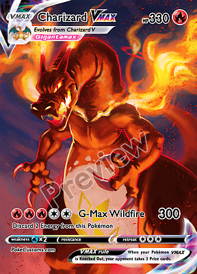 Charizard VMAX & Shadow Chariard VMAX-Custom Pokemon Card