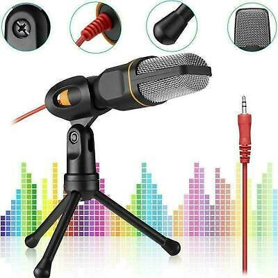 Microphone With Mini Stand Tripod Audio Recording For Computer-PC Phone NE