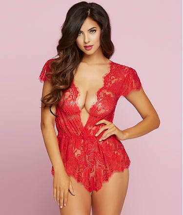 Seven 'til Midnight Temptation Lace Wire-Free Romper & Reviews | Bare Necessities (Style 10718)