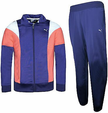 Puma Poly Suit Womens Lightweight Tracksuit Polyester Blue Red 834333 21 A49E