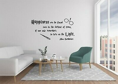 Harry Potter Vinyl Wall Decals Quote Home Decor Bedroom Wall Stickers FREE POST