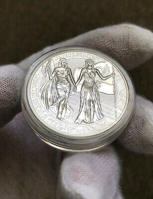 2019 Germania Allegories Columbia & Germania 2 Oz Silver Coin BU (w/ Box & COA)