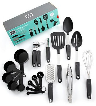 18pc Gibson Home Home Total Kitchen Chefs Better Basics Combo Set