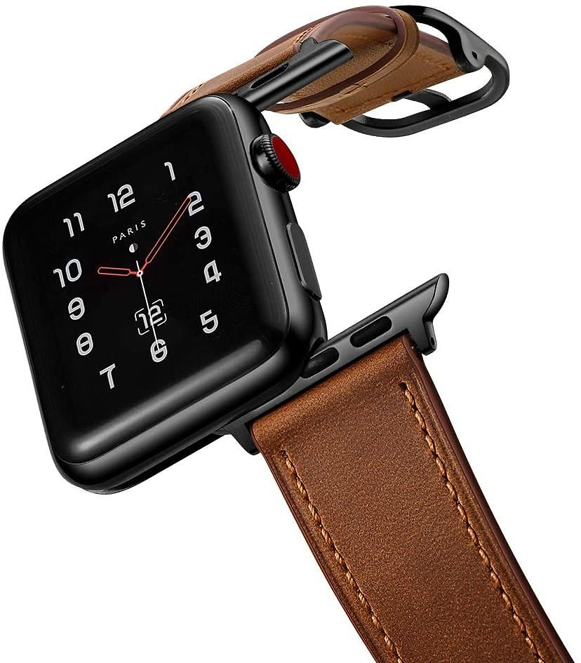 AmBand Leather Band Compatible with Apple Watch