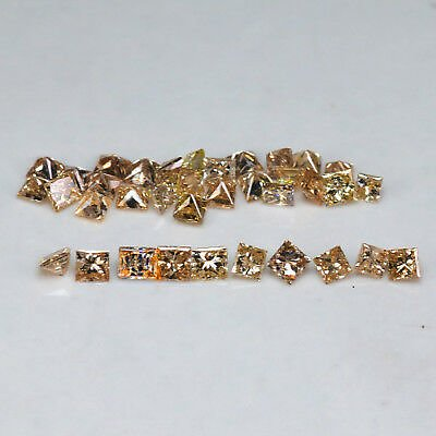1.00Ct Fancy Orange Yellow Princess Natural Diamond Lot 50% BLACK FRIDAY SALE!